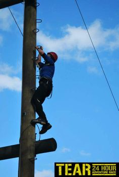 Cracking shot of Racer climbing the High Ropes at TotalExperience.ie TEAR 2013