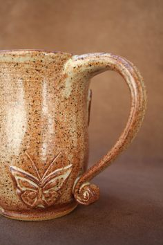 Ceramic Pottery Butterfly Mug by CaliforniaSoulshine on Etsy