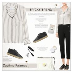 """""""Tricky Trend: Daytime Pajamas"""" by alves-nogueira ❤ liked on Polyvore featuring Zadig & Voltaire, Robert Clergerie, Salvatore Ferragamo, Bella Freud, rms beauty, Bobbi Brown Cosmetics, TrickyTrend, pajamas, SalvatoreFerragamo and polyvoreeditorial"""