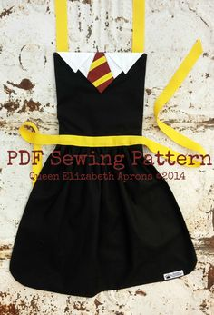 Most up-to-date Absolutely Free harry potter Sewing projects Ideas HARRY POTTER inspired Costume Apron Pdf by QueenElizabethAprons Cosplay Harry Potter, Harry Potter Kostüm, Harry Potter Fiesta, Harry Potter Outfits, Harry Potter Girl Costume, Harry Potter Clothing, Harry Potter Adult Party, Harry Potter Dress Up, Harry Potter Fabric