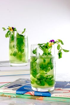 Perfect drink to celebrate St. Patrick's day - St. Patrick's Peas and Pisco Cocktail with Aloe Vera! Smoothie Recipes, Smoothies, Brandy Cocktails, Non Alcoholic, Aloe Vera, Hot Chocolate, Lemonade, Food Photography, Glass Vase