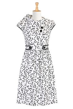 $99.95 Vintage Butterfly Print Dress - Collar would probably drive me crazy but it's a really cute dress