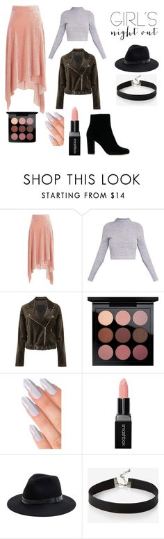 """Girls hot squad"" by sockmonkey0901 ❤ liked on Polyvore featuring Peter Pilotto, Paige Denim, MAC Cosmetics, Smashbox, Sole Society and Express"