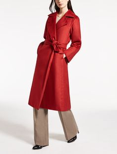 Max Mara MANUELA red: Camelhair coat.