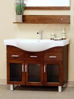 Bellaterra Home Medium Walnut Single Sink Bathroom Vanity at Lowe's. Add a unique contemporary flare to your home's decor with this modern style design sink chest vanity. The medium walnut finish is refreshing and will Wood Bathroom, Bathroom Decor, Vanity, Amazing Bathrooms, Vanity Sink, Wood Bathroom Vanity, Bathroom Vanity Tops, Single Sink Bathroom Vanity, Bathroom