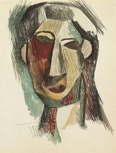 Pablo Picasso - Head of a Woman (Fernande Olivier), 1909 Pablo Picasso, Picasso Art, Gouache, Trinidad, Cubist Movement, Spanish Painters, Z Arts, Art Walk, Vincent Van Gogh