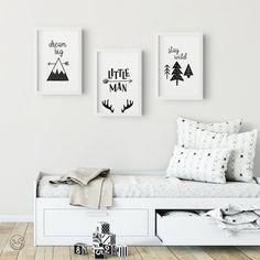 Set of 3 Nordic Style Nursery Prints Printable Wall Art