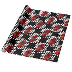 Boys Toys Red Sports Car Wrapping Paper