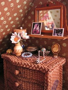 Miniature dresser from a doll's house - such amazing detail.
