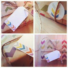 Gift Wrap Kit - Follow the Arrow. $17.00, via Etsy.
