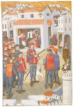 Knigsshts of St JohnReceiving orders from GM Pierre d'Abusson c. 1486 Slater (pg 153)