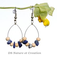 Lapis lazuli jewelry boho bohemian earrings by DSNatureetCreation www.etsy.com/listing/233492038/lapis-lazuli-jewelry-boho-bohemian?ref=shop_home_active_1
