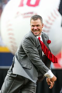It was a ball, but it was great to see this guy on the field again, even if it was just to throw out the first pitch!