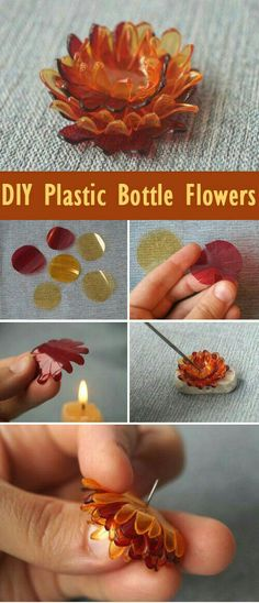DIY Plastikflasche Blumen Tutorial www.free-tutorial … - UPCYCLING IDEEN - - DIY Plastikflasche Blumen Tutorial www.free-tutorial … – UPCYCLING IDEEN plastik upcycling DIY plastic bottle flower tutorial www. Plastic Bottle Art, Reuse Plastic Bottles, Plastic Bottle Flowers, Plastic Art, Pet Bottle, Recycled Bottles, Plastic Jewelry, Pot Mason Diy, Mason Jar Crafts