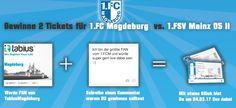 Gewinne #Tickts für ein #Fußballspiel. #FCM #Magdeburg #TabiusMagdeburg #Computer #Technik #Gewinnen #Gewinnspiel #fcmagdeburg #1fcm #1fcmagdeburg