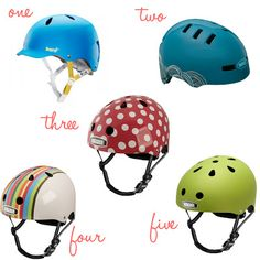 Cute bicycle helmets. They exist!