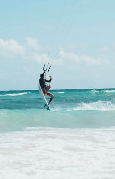 Kitesurf is our favorite sport & turquoise our favorite color.#kitesurf #tulum #caribbeanwww.kitetulum.com