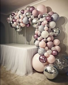 Balloon garland for holy communion by Stylish Soiree .- Ballongirlande für eine heilige Kommunion von Stylish Soirees Perth Balloon garland for holy communion by Stylish Soirees Perth … – - 21st Birthday Decorations, Ballon Decorations, 18th Birthday Party, Girl Baby Shower Decorations, Birthday Party Themes, Decoration Party, Birthday Month, Metallic Balloons, Rose Gold Balloons