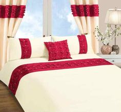 Red And Cream Duvet Cover
