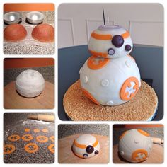 The making of a BB-8 cake