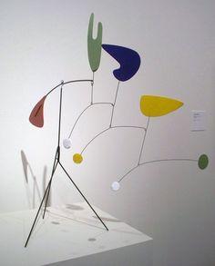 Alexander Calder Mobile Sculptures | Alexander Calder; Standing Mobile; circa 1940; steel wire, painted ...