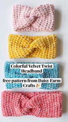 Crochet Ear Warmer Pattern, Crochet Headband Pattern, Crochet Beanie, Crochet Yarn, Crochet Toys, Quick Crochet, Cute Crochet, Style Board, Crochet Vintage