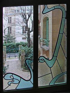 Les vitraux du Castel Béranger (Hector Guimard)