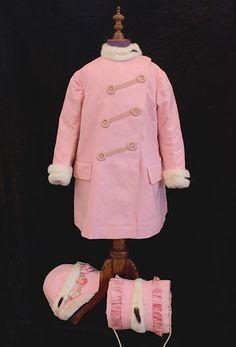 Girl's coat, hat & muff, c.1900.