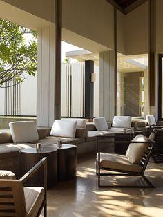 Luxury bar lounge at Amanwella, Tangalle Sri Lanka.
