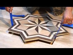 PID Floors Presents: Installing A Hardwood Flooring Medallion Inlay - YouTube
