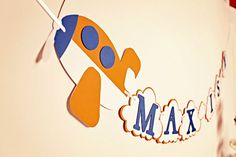 Up in the Air Plane Birthday Banner by PinwheelLane on Etsy Planes Birthday, Planes Party, Airplane Party, Happy Birthday Banners, Airplane Banner, 6th Birthday Parties, Boy Birthday, Birthday Ideas, Kids Party Themes