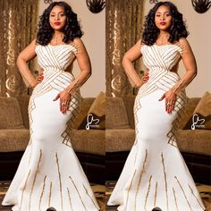 Glamorous Aso Ebi Styles Of 2018 Long African Dresses, African Wedding Dress, African Fashion Dresses, Xhosa Attire, African Attire, African Wear, African Traditional Dresses, Traditional Wedding Dresses, African Inspired Fashion