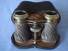 Vintage Silver-Plated Brass Opera Glasses