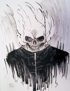 Ghost Rider commission by Ben Templesmith Comic Art