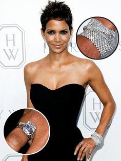 Sparkling Diamond Bracelets  Worn by Halle Berry