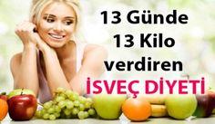 İsveç Diyeti ile 13 günde 13 kilo vermek ister misiniz? Zayıflamak isteyenler için İsveç Diyeti Listesi ile kilolarından kurtulabilir.