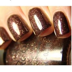 This is a very shimmery and glowing brown nail paint which will look really good in any formal functions including weddings and big parties!