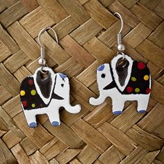 earrings elephants