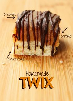 Homemade twix