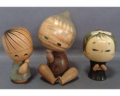 Vintage Japanese lovely children Kokeshi doll 3 pieces 1802095 | eBay