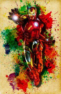 Iron Man Poster Digital The Avengers by DapperDragonArts on Etsy