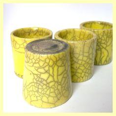 Raku-Becher gelb