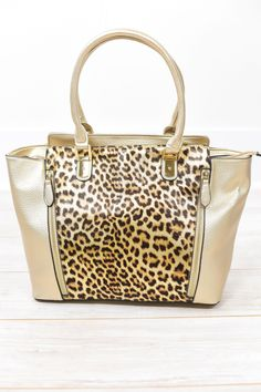 Wherever I May Roam Brown Leopard Bag - BAG1031BR