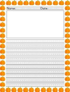 pumpkin writing paper Halloween