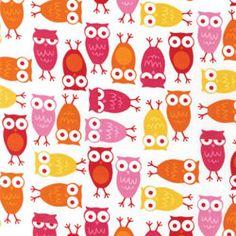 Robert Kaufman Urban Zoologie Pink Hoot Owls