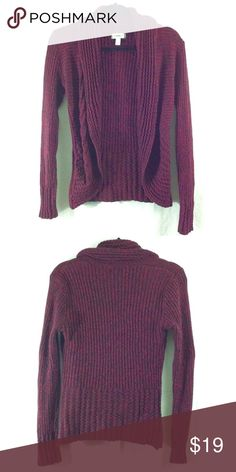 Dress Barn maroon cardigan Beautiful maroon color! Great condition. Made of 60% cotton, 40% acrylic. Bundle 3+ from me and save 15%, only pay shipping ONCE, and get a free gift! Dress Barn Sweaters Cardigans