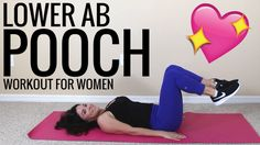 Want to flatter your lower ab pooch? The 6 low ab exercises in this pooch workout - will flatten pooch - in 30 minutes flat - and you can do it anywhere.