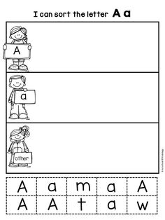 Letter Recognition Printables - This pack includes 26 cut, sort and paste letter recognition printables.  Each page is ready to use.  These make a great literacy center, morning work or take home activity! $