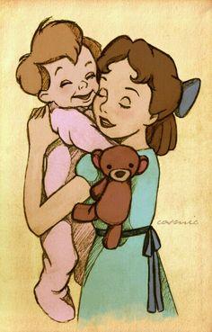 Wendy y Su Hermano Pequeño