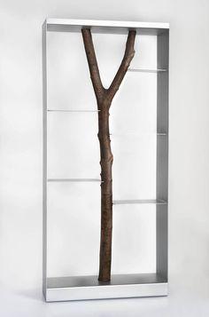 Andrea Branzi / Piccolo albero Bookcase / 1991 / Steel, beech